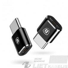 Adapteris USB C kištukas - micro USB B lizdas, su OTG funkcija BASEUS