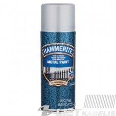 Aerozoliniai metalo dažai Hammerite Hammered, sidabro pilki, 400 ml