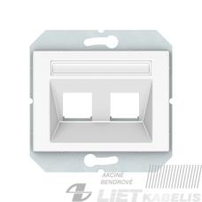 Apdaila kompiuterio lizdui KLRJ45-2 be rėmelio, baltas, Lx-200