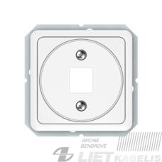 Apdaila kompiuterio lizdui KLRJ45-1 be rėmelio, baltas, Lx-200