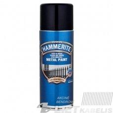 Aerozoliniai metalo dažai Hammerite Smooth, juodi, 400 ml