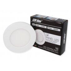 Apvalus LED šviestuvas (universalus) 6W, 2700K, 450lm, LEDline