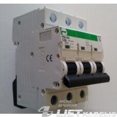 Automatinis jungiklis FB3-63 C40/3 10kA PF