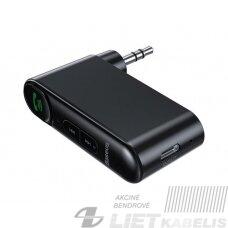 Automobilinis AUX-Bluetooth imtuvas, juodas