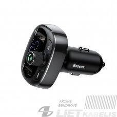 "Automobilinis FM moduliatorius 12-24V su ""Bluetooth"" funkcija, LED indikacija, juodas"