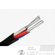 Aliumininis jėgos kabelis su PVC izoliacija AVVG 2x6 (plokščias)  ( 1 m)