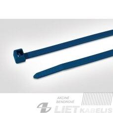 Dirželiai laidams 150x3,5 su metalo dulkėmis, mėlyni, MCT30R