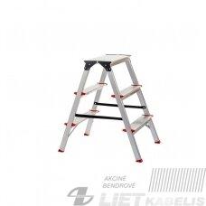 Dvipusės kopėčios, 3 laiptų, max150kg CO4CNP/03 Haushalt