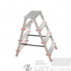 Dvipusės kopėčios, 4 laiptų, 82cm Haushalt