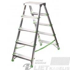 Dvipusės kopėčios,  5 laiptų, 103cm, Eurostyl