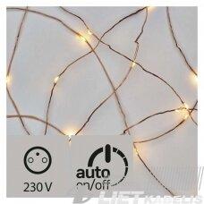 Elektrinė girlianda, 100 LED lempučių ,ZY1426T IP44, Nano, šiltai balta