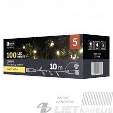 Elektrinė girlianda, 100LED lempučių ,ZY1440 IP44, be maitinimo šaltinio, šiltai balta