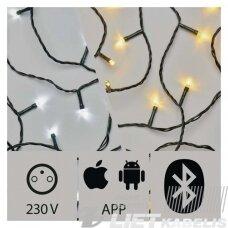 Elektrinė girlianda, 240LED lempučių ,ZY2190 IP44, šaltai/šiltai balta, valdoma Bluetooth,