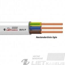 Elektros instaliacijos kabelis, monolitas, plokščias BVV-P 3x1,5mm² (1 m) nestandartinio ilgio