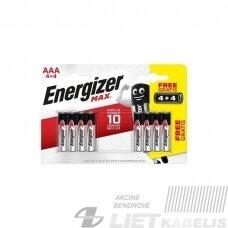 Elementas ENERGIZER MAX LR03 AAA 4 PLIUS 4