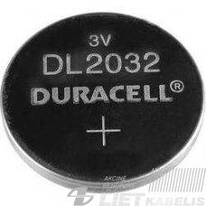 Elementas (diskinis) CR2032 3V ličio Duracell