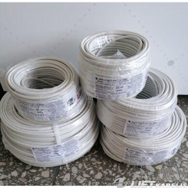 Elektros instaliacijos kabelis, lankstus, apvalus H03VV-F 2x0,75 mm²(1 m) Nestandartinio ilgio 2