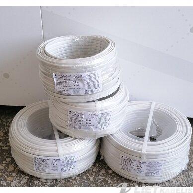 Elektros instaliacijos kabelis, monolitas, plokščias BVV-P 3x1,5mm² (1 m) nestandartinio ilgio 2