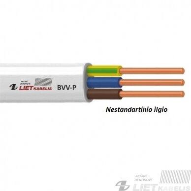 Elektros instaliacijos kabelis, monolitas, plokščias BVV-P 3x2,5mm² (1 m) Nestandartinio ilgio