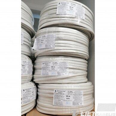 Elektros instaliacijos kabelis, monolitas, plokščias BVV-P 3x2,5mm² (1 m) Nestandartinio ilgio 3