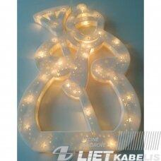 Girlianda sniego senis su keičiamomis lemputėmis 35vnt christmas silhouette minilights