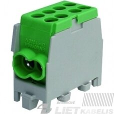 Gnybtas 25mm2 Cu/Al 4 prijungimai (2x25/2x16) PHLAK2522GN žalias, PROTEC