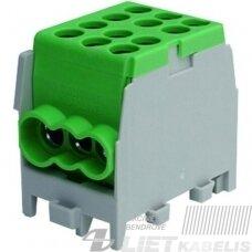 Gnybtas 25mm2 Cu/Al  6 prijungimai (2x25/4x16) PHLAK2524GN žalias, PROTEC