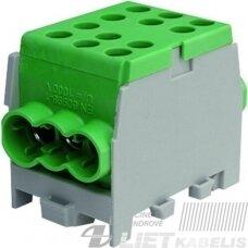Gnybtas 35mm2 Cu/Al  6 prijungimai (2x35/4x25) PHLAK3524GN žalias, Protec