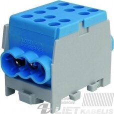 Gnybtas 35mm2 Cu/Al  6 prijungimai (2x35/4x25) PHLAK3524BL mėlynas PROTEC
