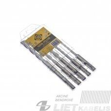 Grąžtas mūrui komplektas 5,0-12,0mm SDS+(285384), Forte Tools