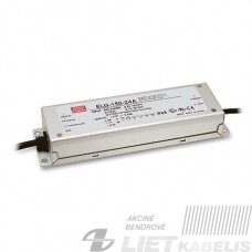 Impulsinis maitinimo šaltinis LED ELG-150-24, 24V, 6,3A, IP67, Mean Well