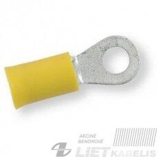 Izoliuota žiedinė jungtis 4,0 - 6,0 mm² M5, Geltona, Berner