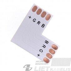 Jugtis LED juostai RGB 10mm L formos,lituojama
