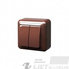 Jungiklis, PJ5 10-001 2 klavišų, virštinkinis, rudas, Delta+