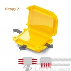 Gelinė jungtis, Happy 2 dėžutė geltona IPX8 Raytech