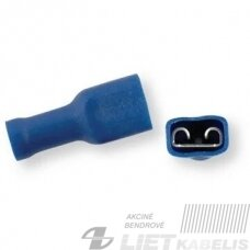 Jungtis laidams 1,5-2,5mm² 6,3x0,8 mėlyna, Berner