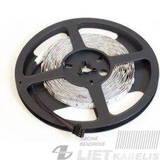Juosta LED 9.6W, 12V, RGB, 5m/10mm, IP33