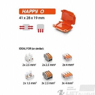 Jungtis geline Happy0 Box12 1,5/4mm²Ray tech