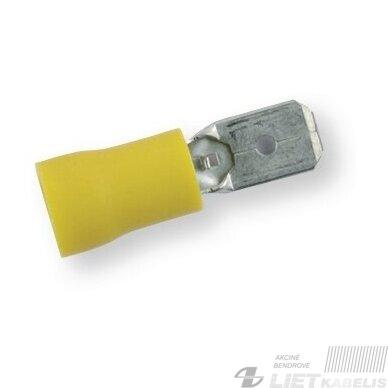 Jungtis laidams 4,0-6,0mm² M6 geltoni BERNER