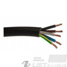 Gumuotas kabelis H05 RR-F 5x4mm², Elektrokabel (1m)