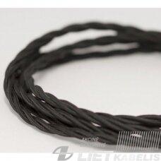 Kabelis pintas juodas 3x2,5mm² Vintage