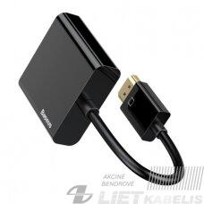 Keitiklis HDMI - VGA tik vaizdo perdavimui juodas