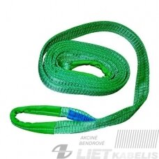 Kėlimo diržas 2t L-4m s/m.kilpomis (žalias)