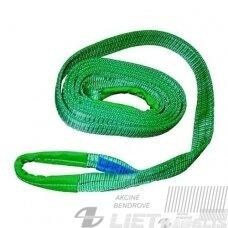 Kėlimo diržas 2t L-5m s/m.kilpomis (žalias)