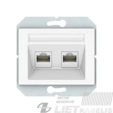 Kompiuterio lizdas, KLRJ45-25e2-02 be rėmelio, baltas, XP500