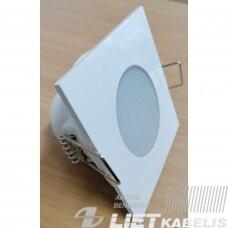 LED šviestuvas įleidžiamas, kvadratinis, 5W, 4000K, 350Lm, IP65/20, Greenlux