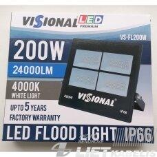 LED Prožektorius 200W, 4000K, 24000Lm, IP66, 70° Visional