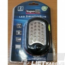 LED žibintuvėlis SD-3725 24+3LED 3AAA, Vagner SDH