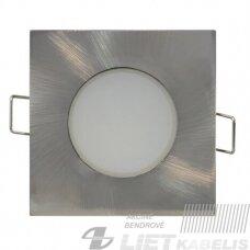 LED šviestuvas įleidžiamas, kvadratinis,metalinis, 5W, 4000K, 350Lm, IP65/20, Greenlux