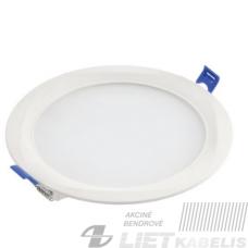 LED šviestuvas Louis įleidžiamas apvalus, 15W, 4000K, 1200Lm, IP54, GTV